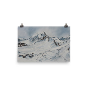 Painting of the Bisshorn and Weisshorn