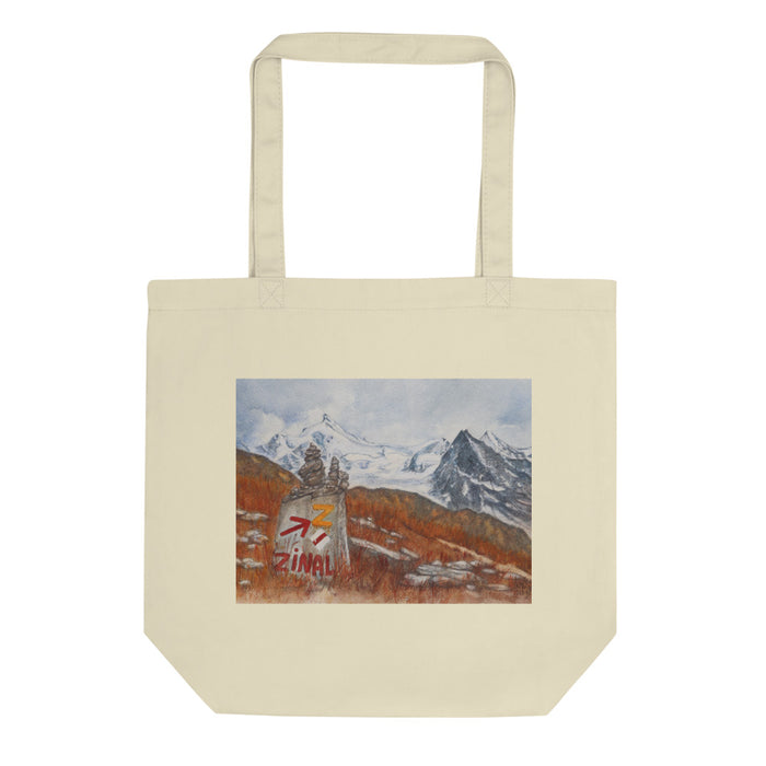 Cairn on the Sierre/Zinal route ECO TOTE BAG