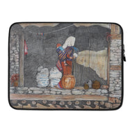 Woman and Child, Manang, Nepal LAPTOP SLEEVE