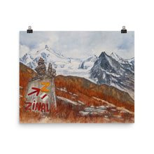 Load image into Gallery viewer, Painting of the Sierre Zinal race