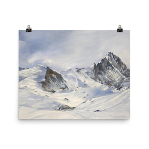 Painting of the Weisshorn and the Bisshorn