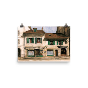 Painting of the Café des Amis