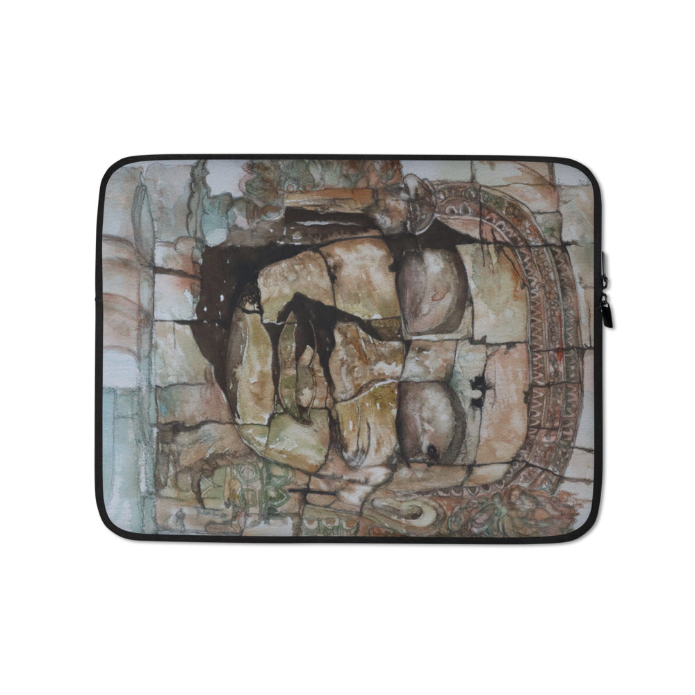 Smiling Stone Face LAPTOP SLEEVE