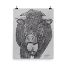 Load image into Gallery viewer, Drawing of a cow