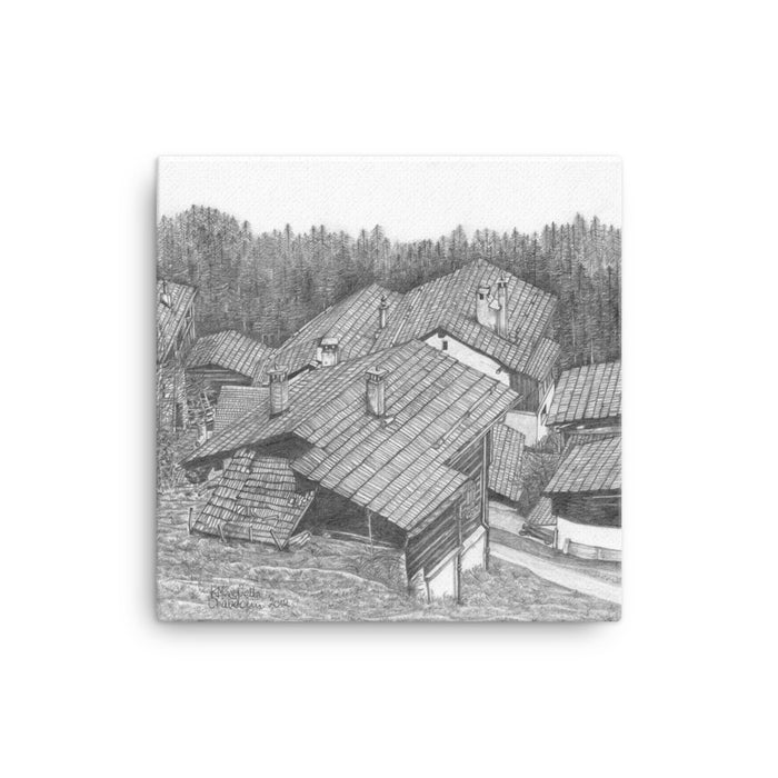 Drawing of Swiss Chalets