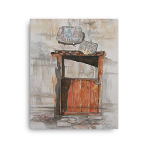 Painting of a door