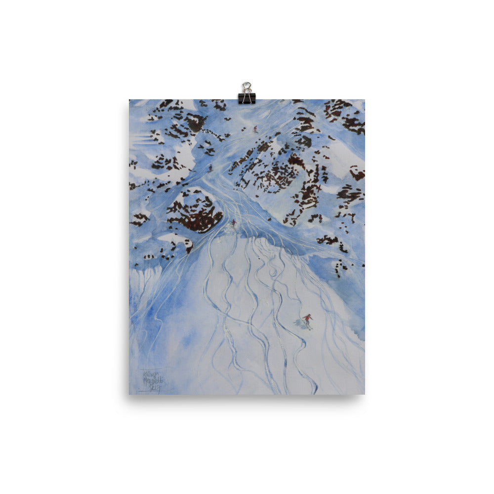 Painting of the Freeride world Tour