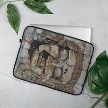 Load image into Gallery viewer, Smiling Stone Face LAPTOP SLEEVE