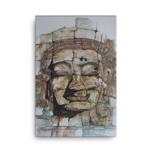 Smiling Stone Face CANVAS
