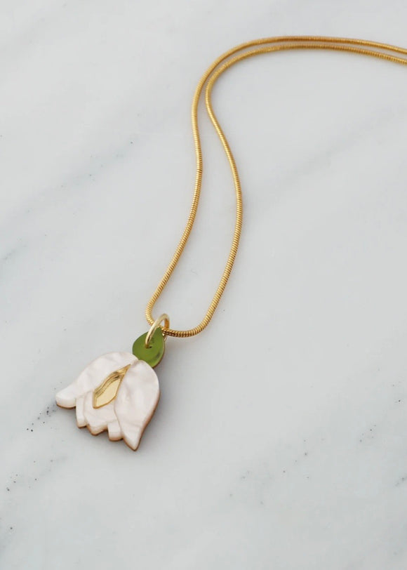 Wolf & Moon Tulip necklace