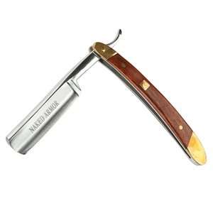 STRAIGHT RAZOR (BROWN WOOD) - SGTSHARP.COM