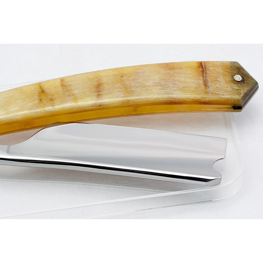"Thiers Issard Hook Nose Straight Razor 7/8"", Ram's Horn Handle - SGTSHARP.COM"