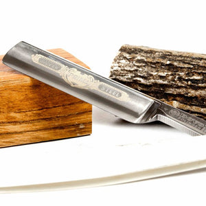 Dovo Straight Razor w/ Bone Scales & Horn Wedge - SGTSHARP.COM