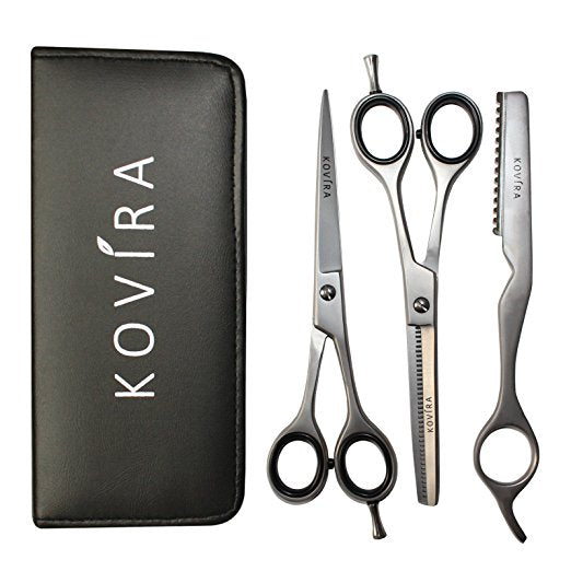 "Barber Hairdresser Scissors and Thinning Shears/Cutting Scissors Set with Razor 6.5"" - SGTSHARP.COM"