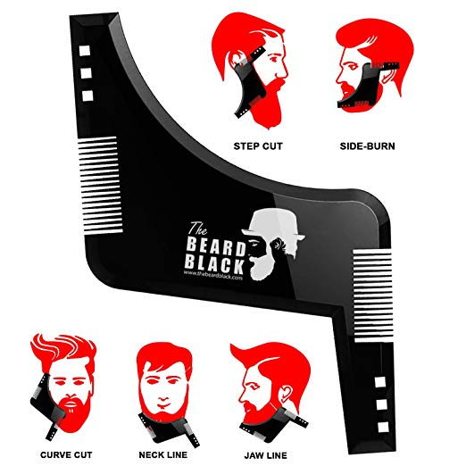 Shaping & Styling Tool with built-in comb for perfect line up & edging, use with a beard trimmer or razor to style your beard & facial hair - SGTSHARP.COM