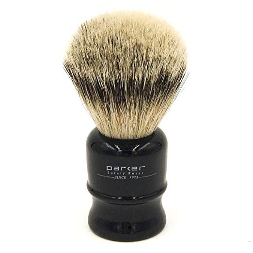 Parker Safety Razor, 100% Silvertip Travel Shave Brush with Travel Case - SGTSHARP.COM