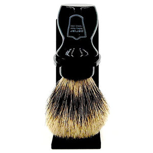 "Parker Safety Razor Handmade Deluxe ""Mug Shaving Brush"" - 100% Pure Badger Brush -- Stand Included (Black) - SGTSHARP.COM"