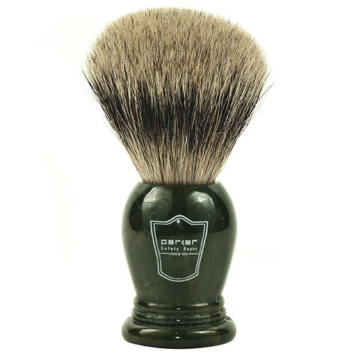 Parker Safety Razor KING SIZE 100% Pure Badger Bristle Shaving Brush - Brush Stand Included - SGTSHARP.COM