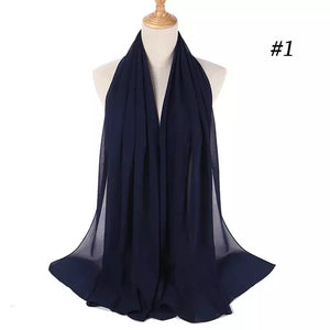 THE BASIC CHIFFON IN NAVY BLUE