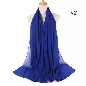 THE BASIC CHIFFON IN ROYAL BLUE