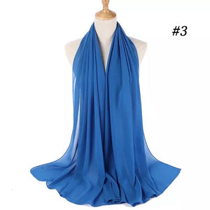 THE BASIC CHIFFON IN WATER BLUE