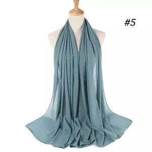 THE BASIC CHIFFON IN JADE GREEN