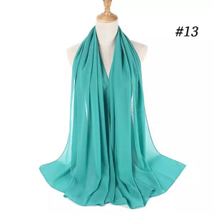 THE BASIC CHIFFON IN TEAL