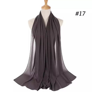 THE BASIC CHIFFON IN DARK GREY