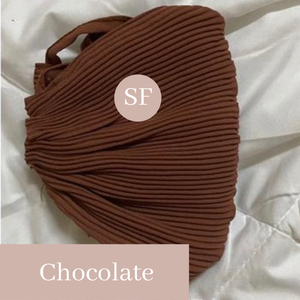 THE PLEATS MASK IN CHOCOLATE