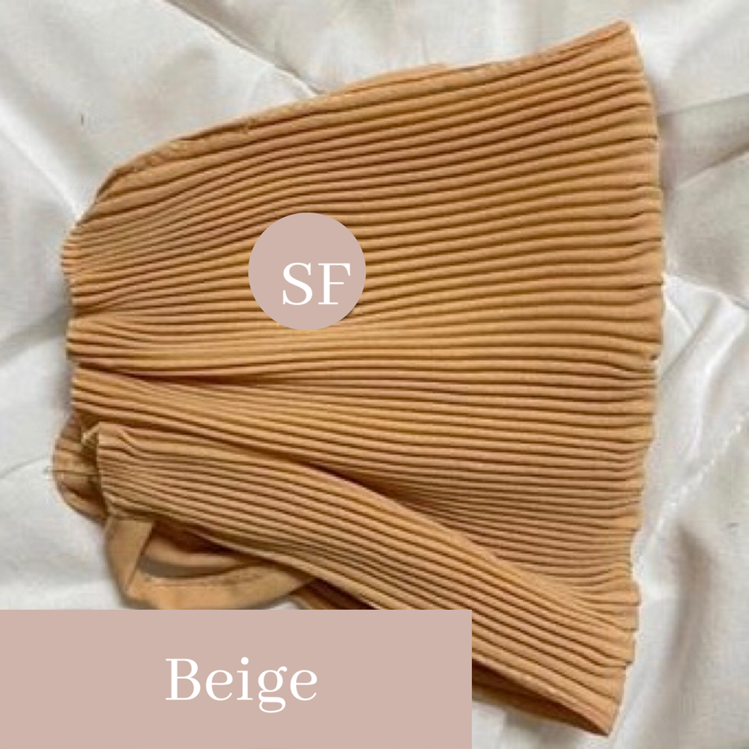 THE PLEATS MASK IN BEIGE
