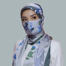 Load image into Gallery viewer, THE BATIKA IN FOREST GREEN (SHAWL + MASK)