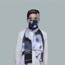 Load image into Gallery viewer, THE POSIES IN BLACK (SHAWL + MASK)
