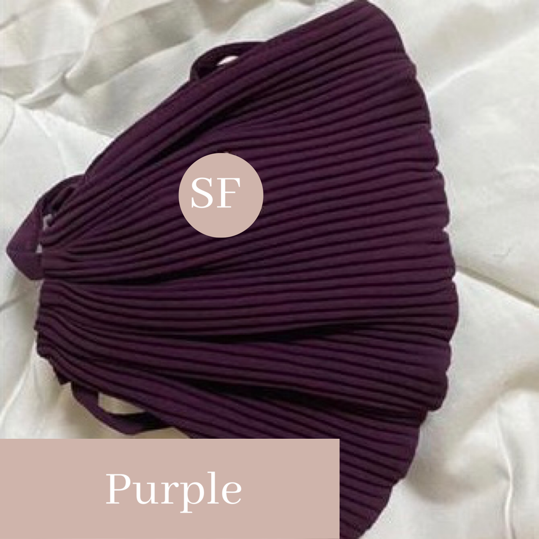 THE PLEATS MASK IN PURPLE