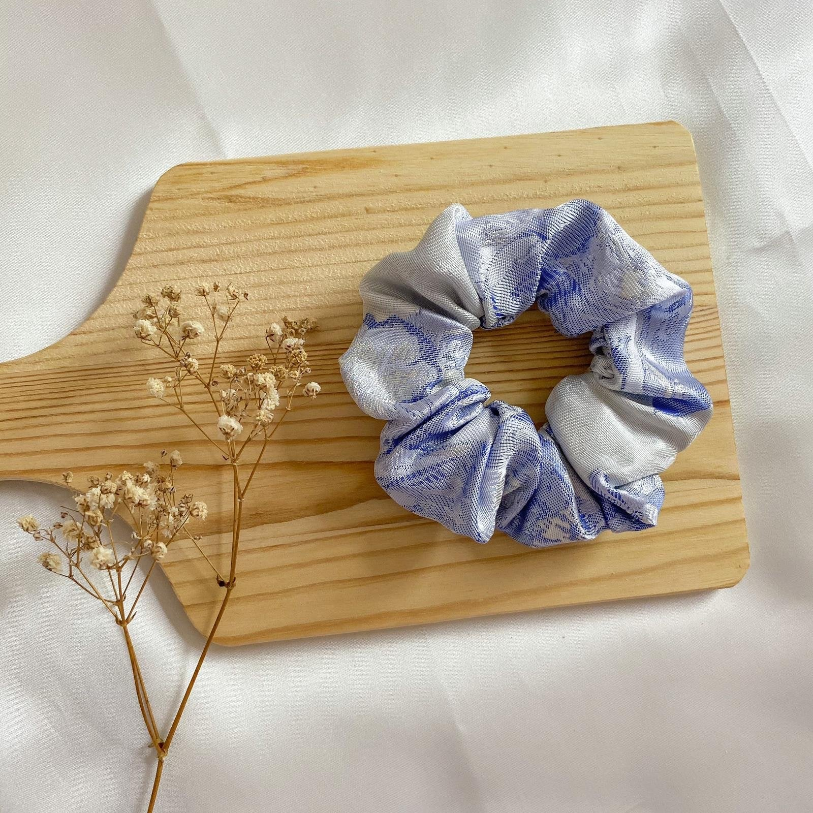 Oriental blue scrunchie singapore