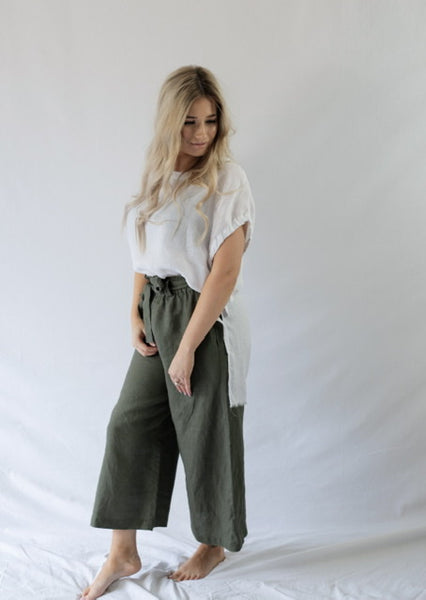 RAW EDGE BRAX TOP - bambu road - linen clothing - comfortable chic - lifestyle collection - australian resort wear - australian brand clothing - coastal fashion