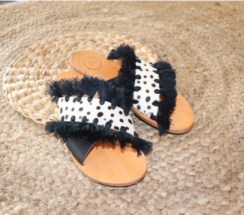 Tia Slides - bambu road - stylish - comfortable - luxurious - lifestyle collection - australian resortwear