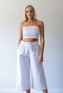 Old Malibu Culottes - bambu road - linen clothing - comfortable chic - lifestyle collection - australian resort wear - australian brand clothing - coastal fashion