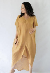 HARPER KAFTAN - 100% LINEN - bambu road - linen clothing - comfortable chic - lifestyle collection - australian resort wear - australian brand clothing - coastal fashion