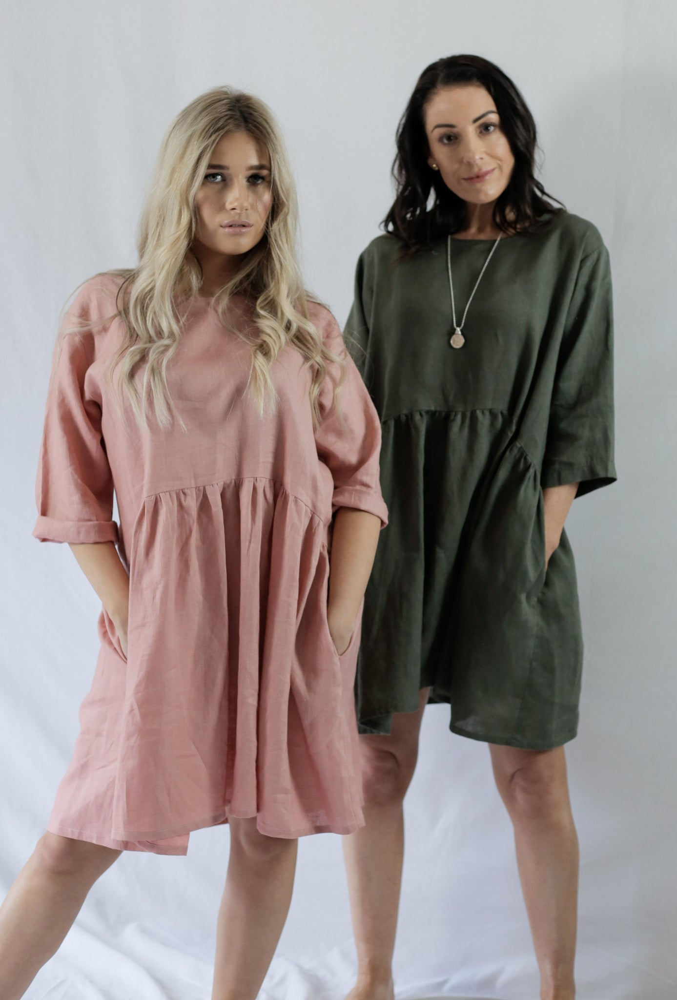CHARLIE DRESS - bambu road - linen clothing - comfortable chic - lifestyle collection - australian resort wear - australian brand clothing - coastal fashion