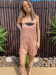 Billie Overalls - Linen - bambu road - linen clothing - comfortable chic - lifestyle collection - australian resort wear - australian brand clothing - coastal fashion