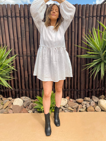 Charlie Dress - Linen - bambu road - linen clothing - comfortable chic - lifestyle collection - australian resort wear - australian brand clothing - coastal fashion
