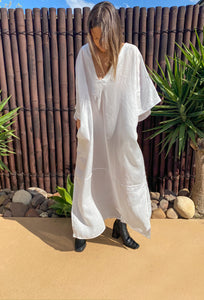 Dakota Kaftan	- Linen - bambu road - linen clothing - comfortable chic - lifestyle collection - australian resort wear - australian brand clothing - coastal fashion
