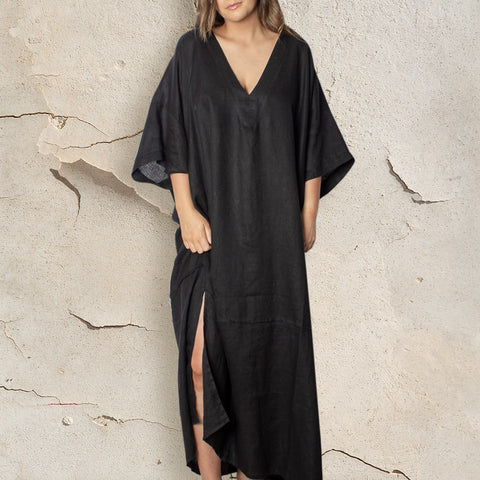 Dakota Kaftan	- Linen - bambu road