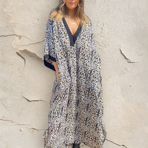 Dakota Kaftan - Rayon - bambu road - linen clothing - comfortable chic - lifestyle collection - australian resort wear - australian brand clothing - coastal fashion