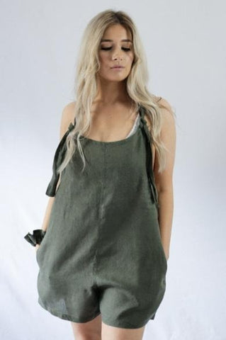 BILLIE OVERALLS - bambu road - linen clothing - comfortable chic - lifestyle collection - australian resort wear - australian brand clothing - coastal fashion