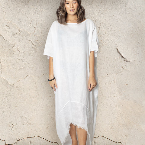 Harper Kaftan - Linen - bambu road - linen clothing - comfortable chic - lifestyle collection - australian resort wear - australian brand clothing - coastal fashion