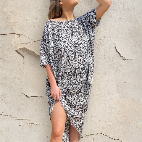 Harper Kaftan - Rayon - bambu road - linen clothing - comfortable chic - lifestyle collection - australian resort wear - australian brand clothing - coastal fashion