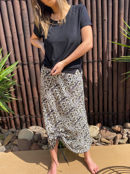 Huskia Skirt - Rayon - bambu road - linen clothing - comfortable chic - lifestyle collection - australian resort wear - australian brand clothing - coastal fashion