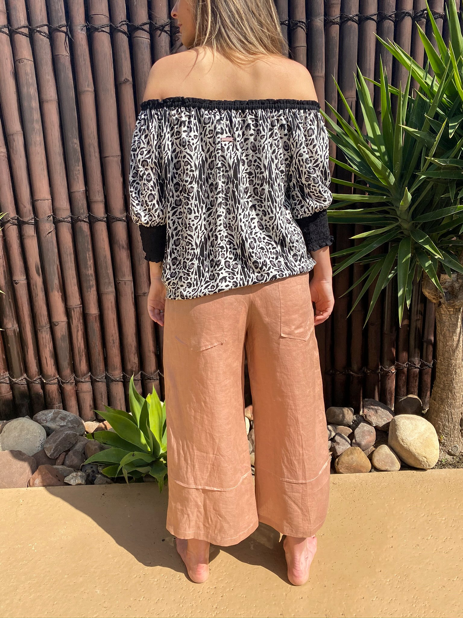 Lola Off The Shoulder - Rayon - bambu road - linen clothing - comfortable chic - lifestyle collection - australian resort wear - australian brand clothing - coastal fashion