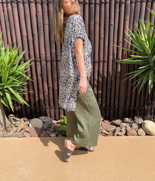 BRAX RAW EDGE TOP - RAYON - bambu road - linen clothing - comfortable chic - lifestyle collection - australian resort wear - australian brand clothing - coastal fashion